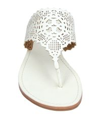 Tory Burch - White Toe Post Sandal - Lyst
