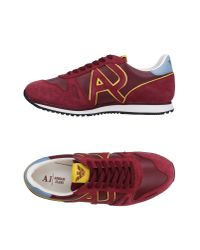 Armani Jeans | Red Low-tops & Sneakers for Men | Lyst