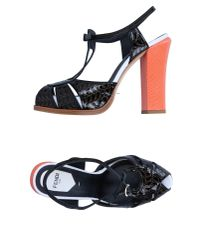 Fendi - Black Sandals - Lyst