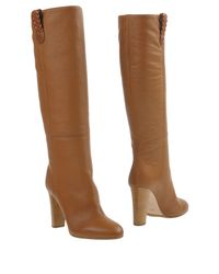HUGO - Brown Boots - Lyst