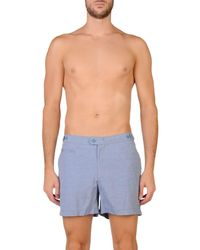 COAST SOCIETY - Blue Swimming Trunks for Men - Lyst