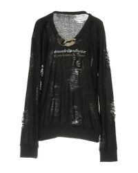 Au Soleil De Saint Tropez - Black T-shirt - Lyst