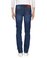 E.MARINELLA - Blue Denim Trousers for Men - Lyst