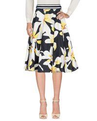 Alice + Olivia - Black 3/4 Length Skirt - Lyst