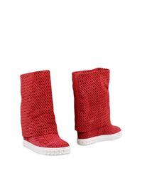 Casadei - Red Ankle Boots - Lyst