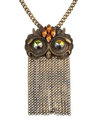 Class Roberto Cavalli | Metallic Necklace | Lyst