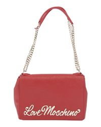 Love Moschino - Red Shoulder Bag - Lyst