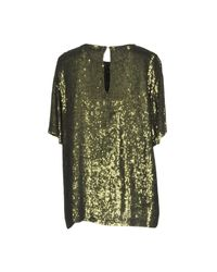 P.A.R.O.S.H. - Green Blouse - Lyst