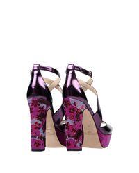 Jimmy Choo - Purple Sandals - Lyst
