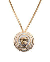 Versace - Metallic Necklace - Lyst