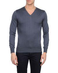 Cruciani - Blue V-neck for Men - Lyst