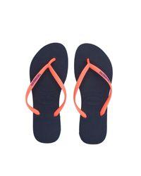 Havaianas - Orange Toe Strap Sandals - Lyst