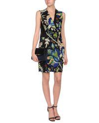 Roberto Cavalli - Green Short Dress - Lyst