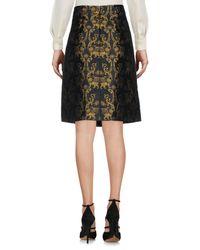 Alberta Ferretti - Black Knee Length Skirt - Lyst