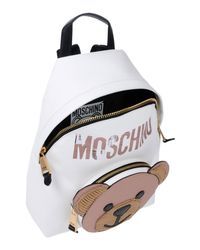 Moschino - White Backpacks & Bum Bags - Lyst