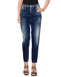 DSquared² - Blue Denim Pants - Lyst