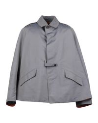 Ports 1961 - Gray Mid-length Jacket for Men - Lyst