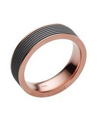 Emporio Armani - Gray Rings - Lyst