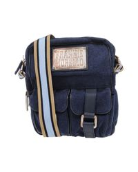 Frankie Morello Blue Shoulder Bag for men