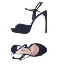 Miu Miu - Blue Sandals - Lyst
