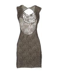 Met - Gray Short Dress - Lyst