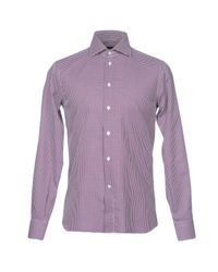 Angelo Nardelli - Purple Shirt for Men - Lyst