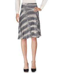 Class Roberto Cavalli - Gray Knee Length Skirt - Lyst