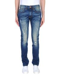 Sun 68 - Blue Denim Pants for Men - Lyst