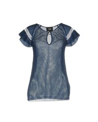 Class Roberto Cavalli - Blue Sweaters - Lyst