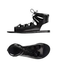 Ancient Greek Sandals - Black Sandals - Lyst