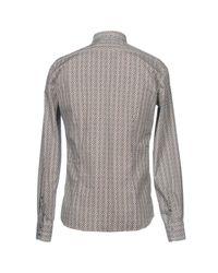 Aglini - Brown Shirt for Men - Lyst