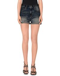 Wesc - Blue Denim Shorts - Lyst