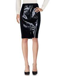 Raoul - Black Knee Length Skirt - Lyst