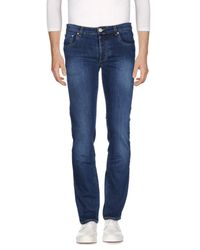 E.MARINELLA - Blue Denim Pants for Men - Lyst