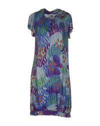 M Missoni - Blue Short Dress - Lyst