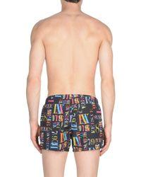 Versace - Black Swimming Trunks for Men - Lyst