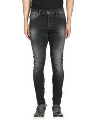 Armani Jeans - Black Denim Trousers for Men - Lyst