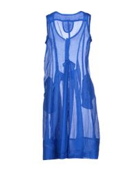 Marithé et François Girbaud   Blue Knee-length Dress   Lyst