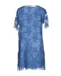 Les Copains   Blue Short Dress   Lyst