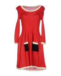 Boutique Moschino | Red Short Dress | Lyst