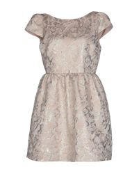 Alice + Olivia - Pink Short Dress - Lyst