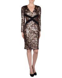 Just Cavalli - Pink Knee-length Dress - Lyst