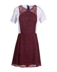 Carven   Purple Short Dress   Lyst