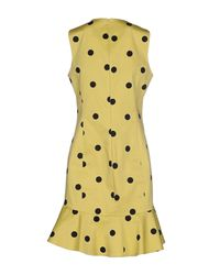 Boutique Moschino | Yellow Short Dress | Lyst