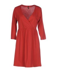 Sun 68 - Red Short Dress - Lyst