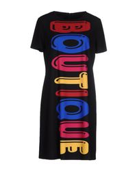 Boutique Moschino - Black Embellished Neck Dress - Lyst