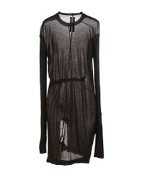 DRKSHDW by Rick Owens - Black Short Dress - Lyst