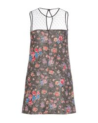 RED Valentino - Gray Short Dress - Lyst