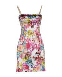 Dolce & Gabbana | White Short Dress | Lyst