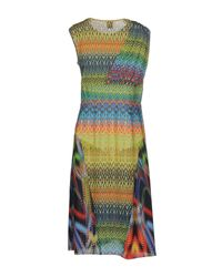 M Missoni | Orange Fish Scale Knitted Sweater Dress | Lyst